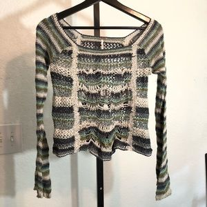 Free People-Open Knit Top-Small